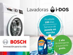 Triple promoción lavadoras i-dos de Bosch