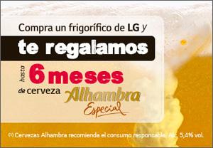 LG Regalo cerveza Alhambra