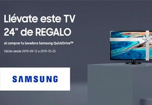 Samsung regalo TV con lavadoras